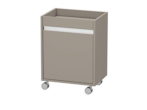 Duravit Rollcontainer Ketho 360x500x670mm 1 Tür, TA links, basalt matt, KT2530L4343