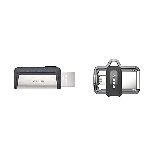 Sandisk Memoria Flash USB 64 GB para Tu Smartphone Android Ultra Dual Drivetype-C USB 3.1 + Ultra Dual m3.0 Unidad Dual con Conector Micro-USB en un Extremo y un Conector USB 3.0, 64 GB