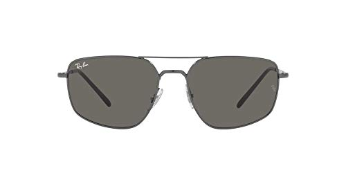 Ray-Ban 0RB3666 Gafas, GUNMETAL, 56 Unisex Adulto