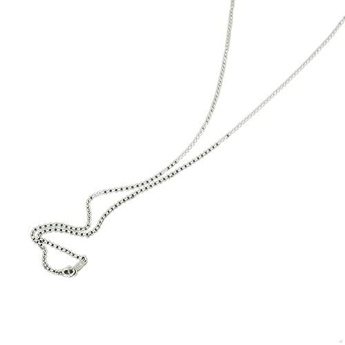 [ルビイ] ホワイトゴールド K18 ロール チェーン ネックレス 幅1.5mm 長さ60cm