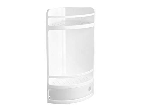 TATAY, Scaffale Da Angolo Con Cassetto, In Plastica, Bianco (Glace), 28,5 X 19 X 50 Cm