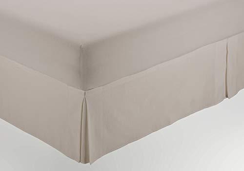 ESTELIA - Cubrecanapé de Hilo Tintado Color Lino - Cama de 150 (Alto 35 cm) - Tipo Colcha - 50% algodón / 30% poliéster / 20% Lino