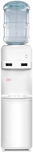 COSTWAY Water Cooler Dispenser 5 Gallon Top Loading Freestanding Water Dispenser with Hot and Cold Water, Perfect for Home and Office (White)