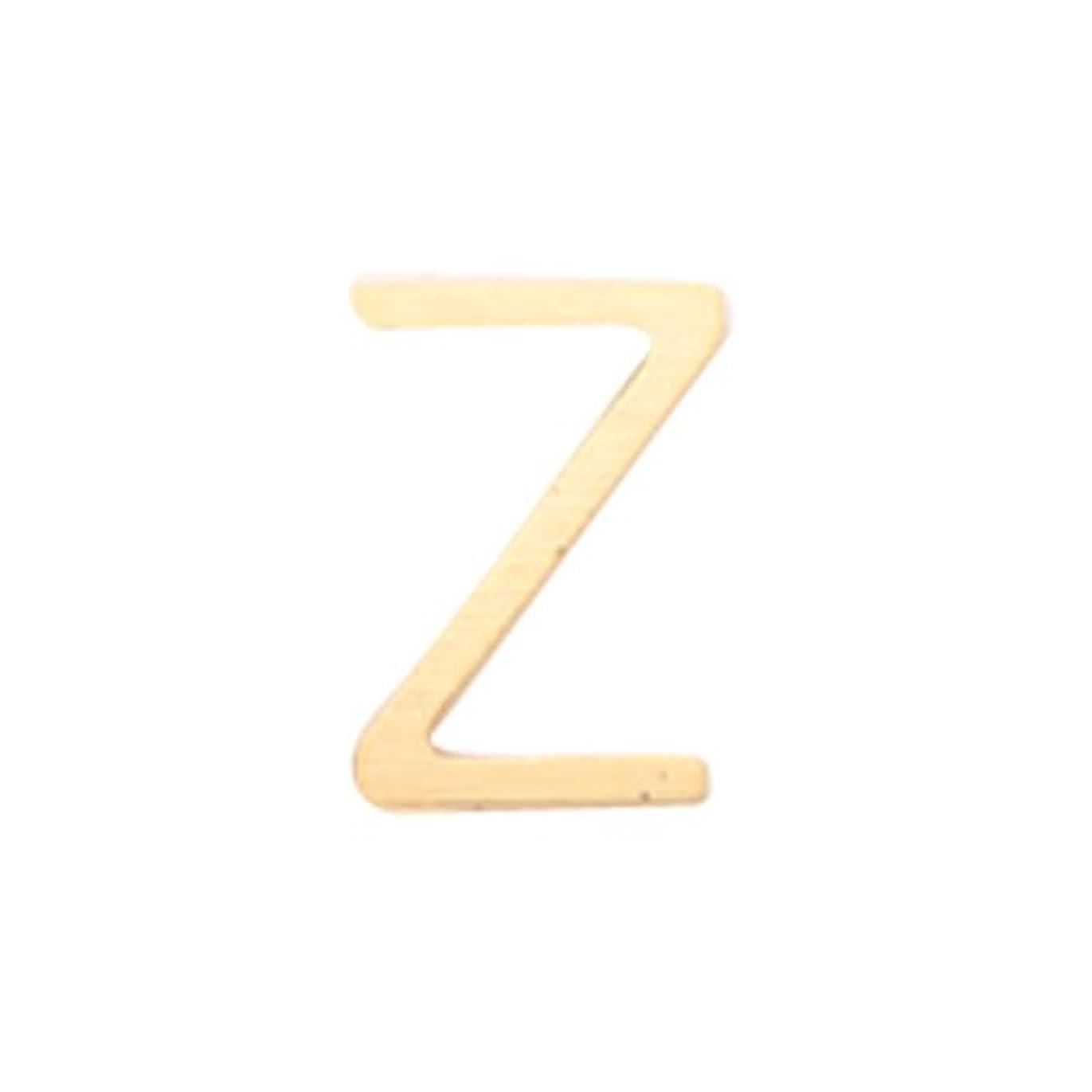 多様性入植者始まりリトルプリティー ネイルアートパーツ アルファベット Z ゴールド 10個