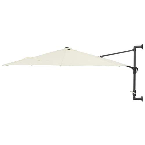 vidaXL Sonnenschirm 300 cm Sand Wandschirm Ampelschirm Balkonschirm Schirm