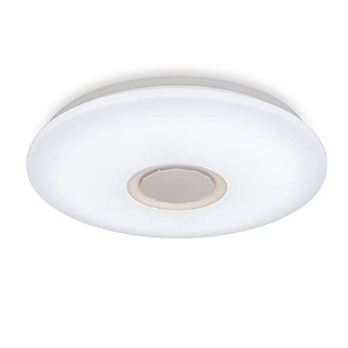 BABYCOW LED con Mando a Distancia con Altavoz Bluetooth, 3000K-6500K 36W luz de Techo, Colores Diferente Lámpara Luz Cool Blanco Calido Ajustable, Moderna Lámpara de Techo Dormitorio salón
