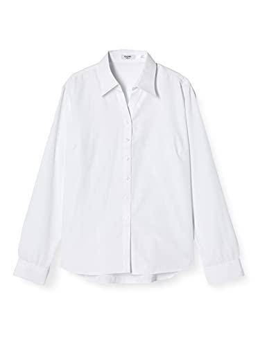 [アトリエサンロクゴ] レディースシャツ 開襟 ブラウス オフィス ワイシャツ l-25-open 長袖 スカイチェック 日本 M (日本サイズM相当)