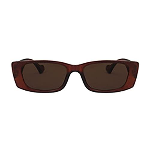 Muium(TM) Gafas de sol, modernas, retro, portátiles, polarizadas, montura clásica, unisex, ligeras y flexibles, marrón,