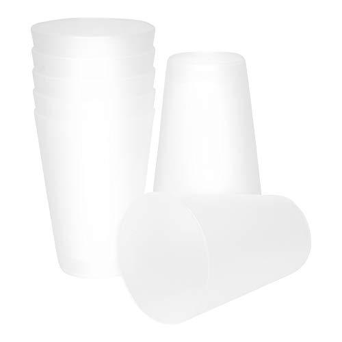 S&S-Shop 20 Plastik Trinkbecher 0,4 l - transparent - Mehrwegtrinkbecher/Partybecher/Becher