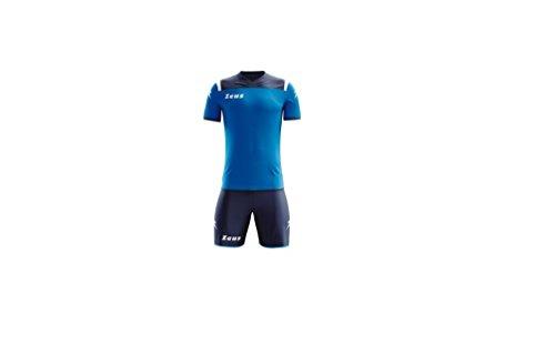 Zeus Completino Calcio, Calcetto Kit Vesuvio, Kit Gara, Allenamento. (Blu-Royal-BIA, L)
