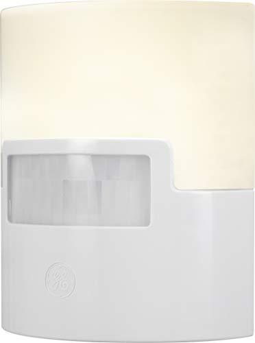 GE Enbrighten LED Night Light, Motion Sensor, 1 Pack, 40 Lumens, Plug-in, UL Listed, Ideal for Bedroom, Nursery, Bathroom, Kitchen, Hallway, White, 12201