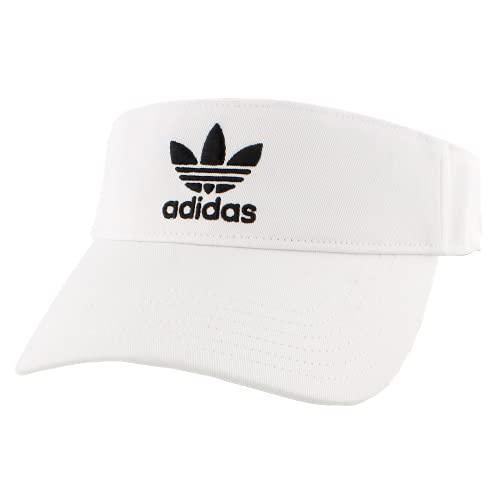 adidas Originals Unisex Twill Visor, White/Black, ONE SIZE