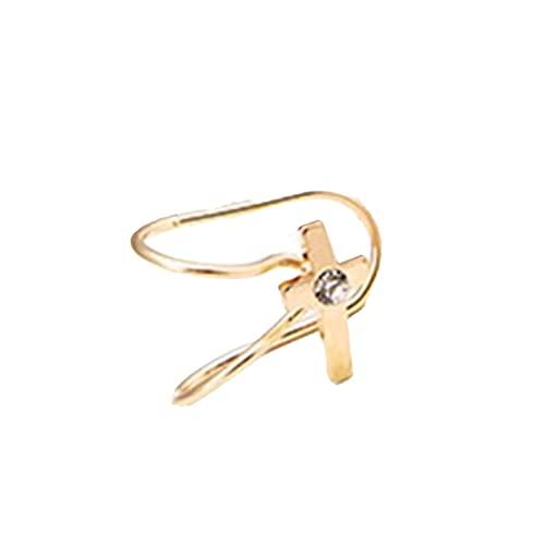 Moares - Orecchini da donna, 1 pezzo squisito a forma di U, senza piercing a forma di stella, accessorio per gioielli – 1, 3, Metallo,