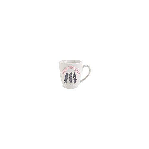 Mug rond plume - 30 cL - Modèle aléatoire