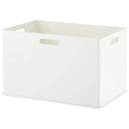 サンカ 収納ボックス 取っ手付き Lサイズ ホワイト色 (幅38.9×奥行26.6×高さ23.6cm) squ+ インボックス SQB-L-WH 日本製