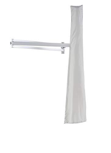 Easysol Housse de Protection Grise pour Parasol Mural de 190 à 270 cm. Étanche et Universelle pour Les Voiles d'Ombrage Protège du Temps pour Une Durée de Vie Plus Longue