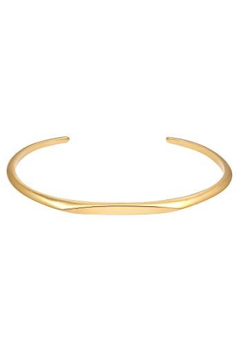 Elli PREMIUM Armband Armreif Offen Verstellbar Basic Piece 925 Silber