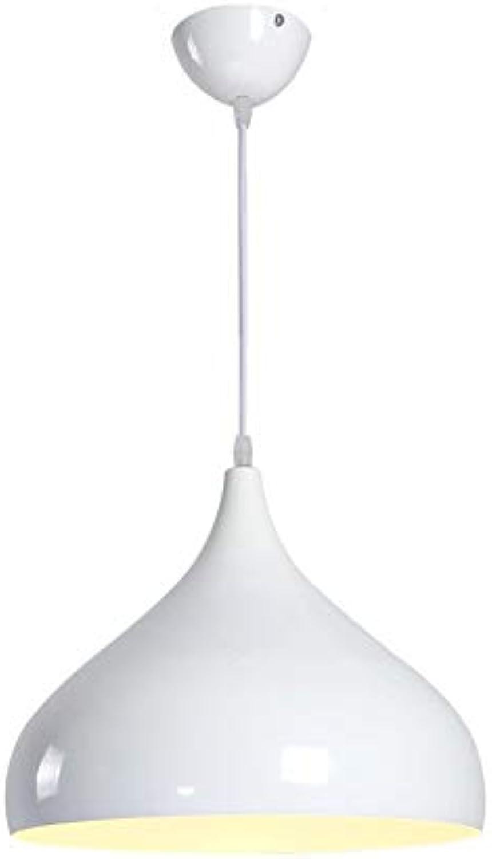 Runde Single-Head Aluminium Pendelleuchten Restaurant Bar Arbeitszimmer Wohnzimmer Pendelleuchten Einfache Moderne Beleuchtung, Wei, 320 Mm  250 Mm.
