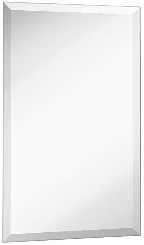 Hamilton Hills New Frameless Lightweight Beveled Mirror 16