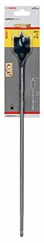Bosch 2608595417 Selfcut Speed Flat Drill Bit, Hexagon Shank, 32mm x 400mm, Blue