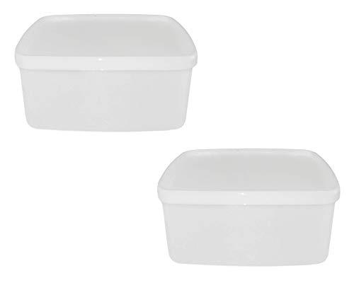 TUPPERWARE Gefrier-Behälter 400 ml orange-weiß kleine Behälter (2) Polarstern