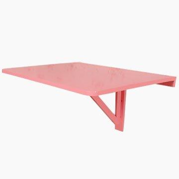 SoBuy Tavolo da muro pieghevole in legno 75 * 60cm, colore: rosa, So-FWT01-P