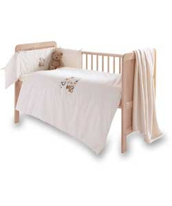 Clair de Lune Cute as a Button 3PC Parure de lit de chambre d'enfant.