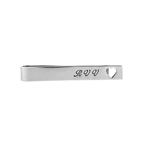 Custom Engraved Roman Numerals Longitude Coordinate NICKEL FREE Personalized Tie Clip in 925 Sterling Silver Dates letters or Latitude