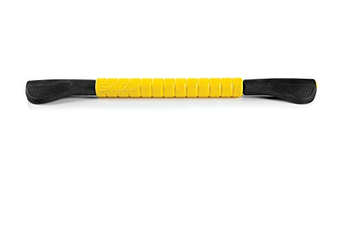 SKLZ Massage Bar Handheld Muscle Roller Massage Stick for Physical Therapy, Original Size , Yellow/Black