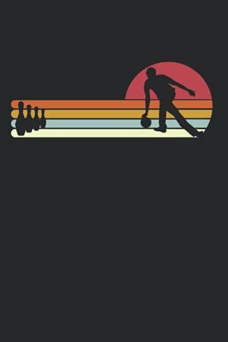 Bowling Sonnenuntergang Sunset Bowlingkugel Bowler: DIN A5 Kariert 120 Seiten / 60 Blätter Notizbuch Notizheft Notiz-Block Bowling Bekleidung zum bowlen für Bowler Verein