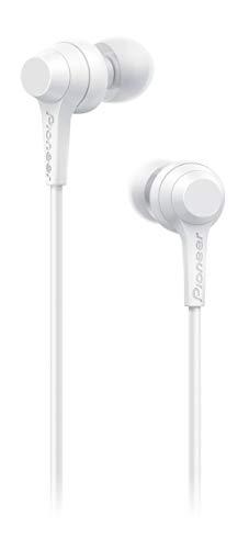 Pioneer C1 In-Ear Kopfhörer (kabelgebunden) mit inline Fernbedienung, Freisprechfunktion, verwindungsfreies Kabel, kompakte Ohrhörer, hervorragende Klangqualität, Industrie Design, Weiss