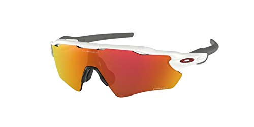 Oakley Radar EV Path, OO9208 (72) Polished White/Prizm Ruby 138mm, Sunglasses Bundle with original case, and accessories (5 items)