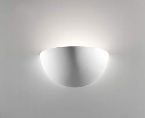 Applique da parete per interni gesso bianco moderna Alta qualità Made in Italy e27 led
