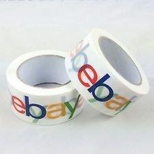 eBay Logo Brand BOPP Packing Shipping Tape 2' x 75 Yard x 2Mil (Pack of 2)