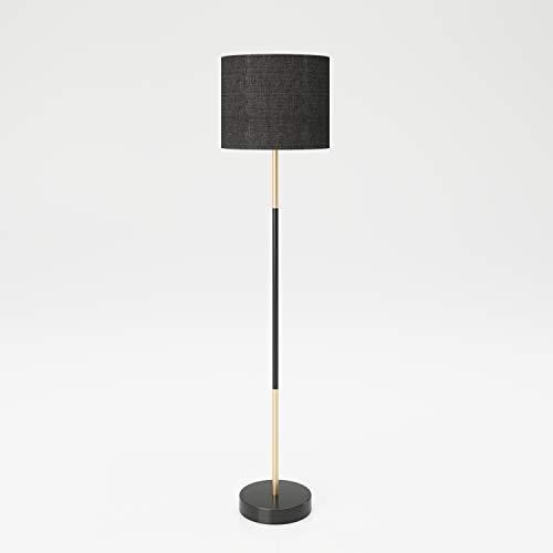 PLAYBOY Designer Stehlampe, Leselampe mit schwarzem Lampenschirm aus Stoff, Retro-Design für Esszimmer, Lesezimmer, Küche