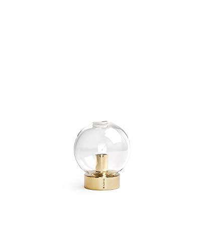 """Klong Kugelvase """"ORBIS"""" - Vase - Ø:7 cm, H: 8 cm - Messing und mundgeblasenes Glas - Innenbereich - Skandinavisches Design"""