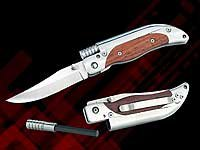 Couteau de poche avec lame de 8 cm et bâton de magnésium pour faire du feu (3332)