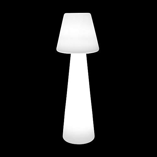 Lámpara de pie Blanca de Polietileno Moderna para jardín Garden - LOLAhome