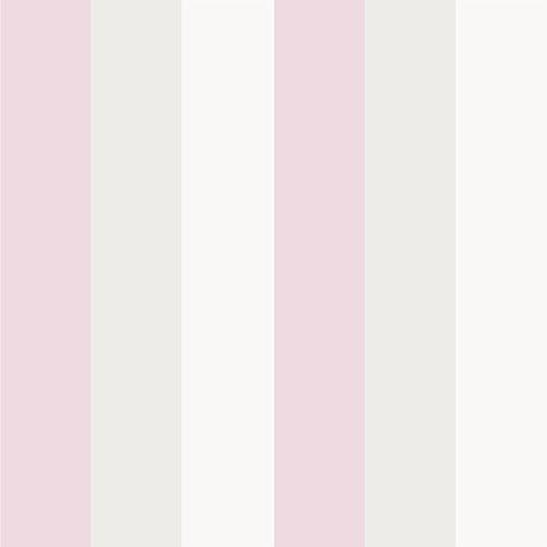 Rasch Textil Papiertapete Tapete - Kollektion Bimbaloo 2- 330280 Streifen Rosa Weiß Beige