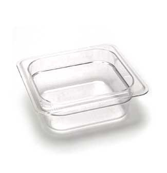 "Cambro 62CW135 Camwear Food Pan plastic 1/6-size 2-1/2""D clear - Case of 6"