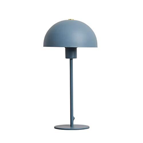 ZWMG Lámparas de Mesa Lámpara De Mesa Creativa De Moda Nórdica para La Habitación De Los Niños En El Hogar Lámpara De Noche Cálida Azul Rosa Opcional (Color : Blue)