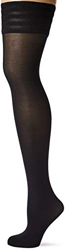 Wolford Damen Halterlose Strümpfe & Socken (LW) Velvet de Luxe 50 Stay-Up, 50 DEN,black,Large (L)
