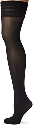 Wolford Damen Halterlose Strümpfe & Socken (LW) Velvet de Luxe 50 Stay-Up, 50 DEN,black,Medium (M)