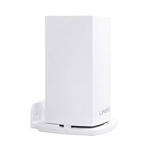 HOLACA Soporte de pared para Linksys Velop sistema de malla WIFI de doble banda para todo el hogar, soporte protector de pared, color blanco (1 unidad)