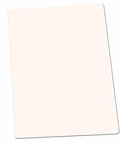 Elba Gio - Pack de 50 subcarpetas simples, A4, color blanco