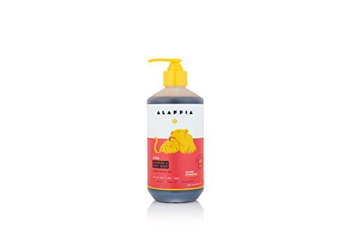 Alaffia Babies & Kids Coconut Shampoo & Body Wash, Coconut Strawberry, 16 Ounces