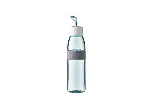 Mepal Trinkflasche Ellipse Nordic Green – 500 ml Inhalt – auch für kohlensäurehaltige Getränke – bruchfestes Material-auslaufsicher-Spülmaschinengeeignet, ABS/PCTG, 63 mm