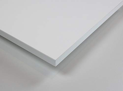 MySpiegel.de Tischplatte Holz Zuschnitt nach Maß Beschichtete Holzdekorplatte in 25mm (180 x 80 cm, Weiß)