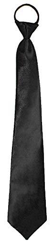 Satin Krawatte zum Show Kostüm für Erwachsene - Schwarz