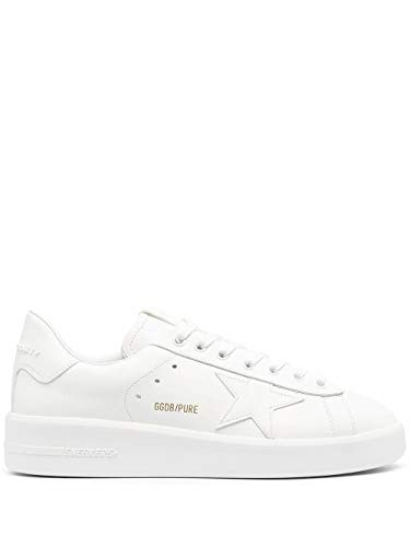 Golden Goose Luxury Fashion Uomo GMF00197F00054110100 Bianco Pelle Sneakers   Ss21